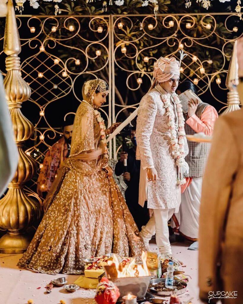 Bridal Golden Lehenga 1