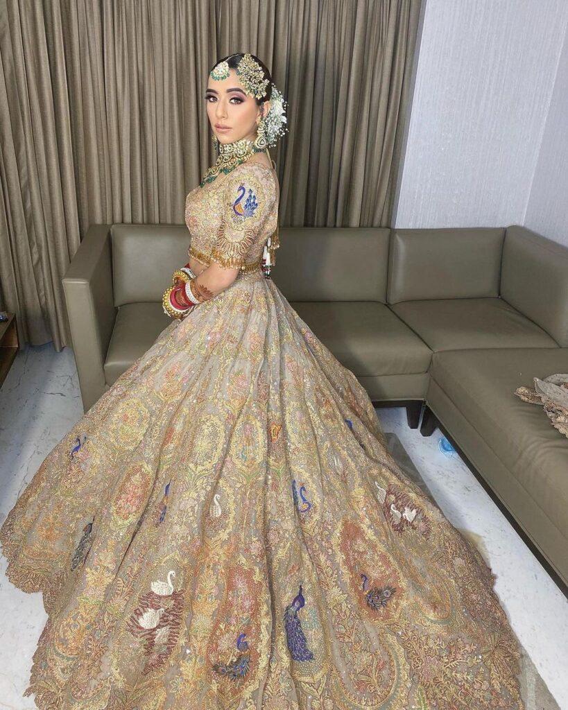 Golden Lehenga For Bride