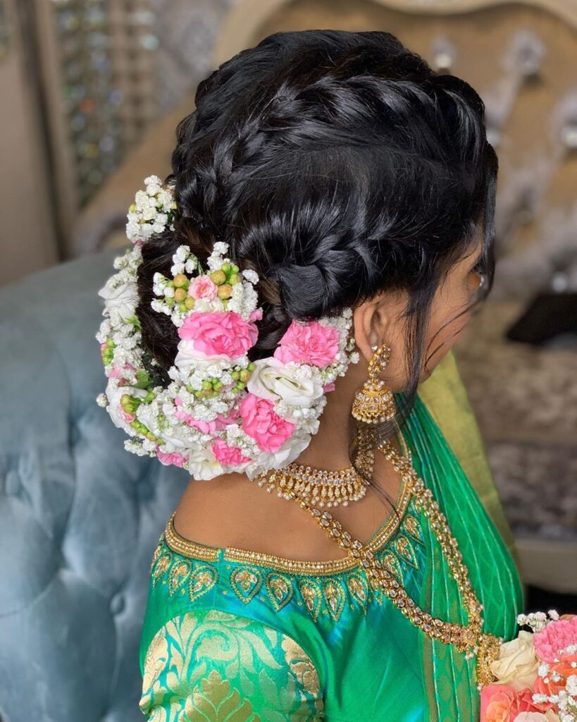 South Indian Bridal Hairstyle Idea