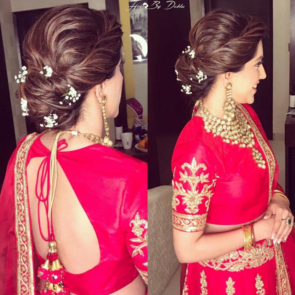 Minimal Bridal Bun Hairstyle