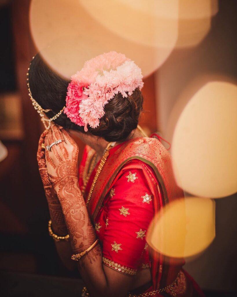 South Indian Bridal Bun