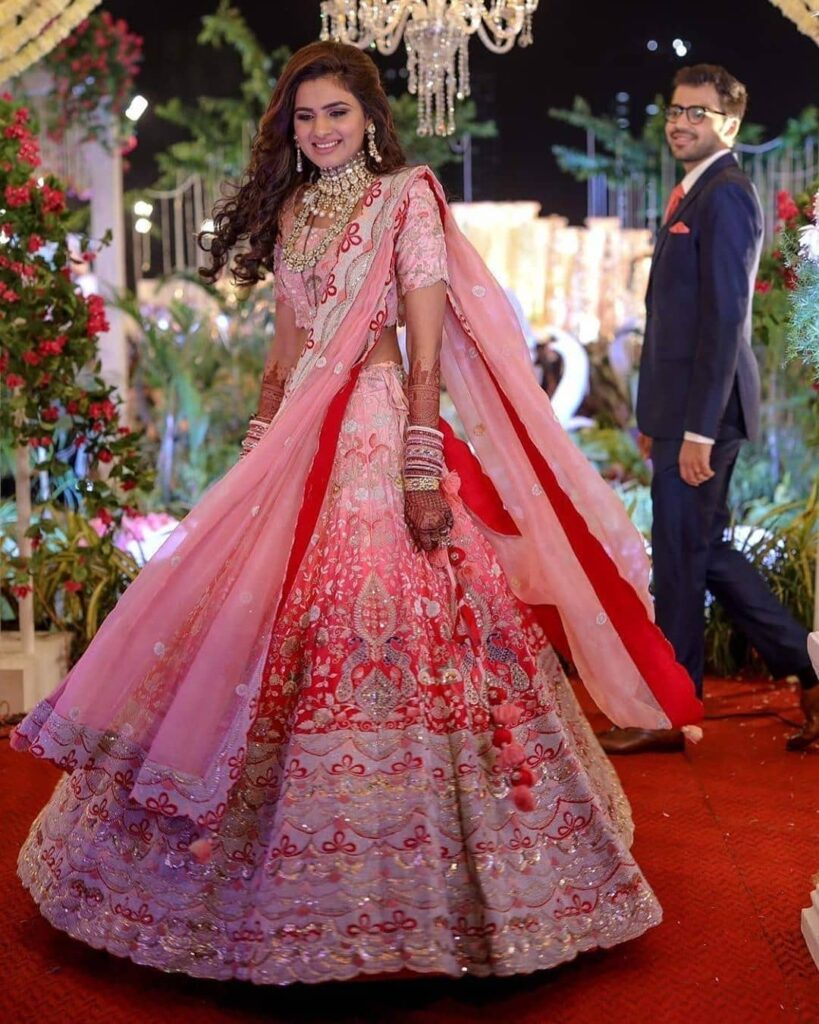 Pink lehenga Brides