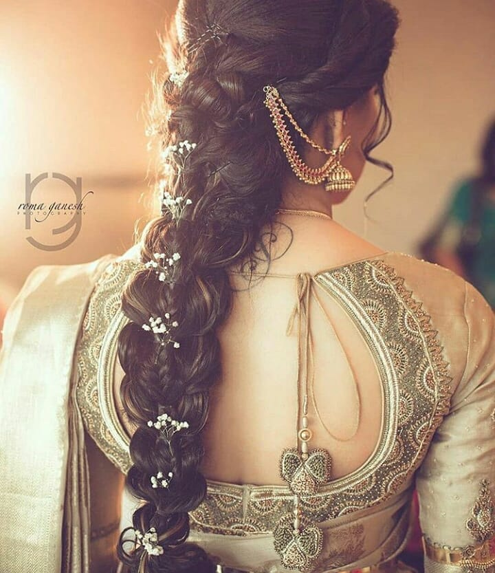 South Indian Hairstyle Braid