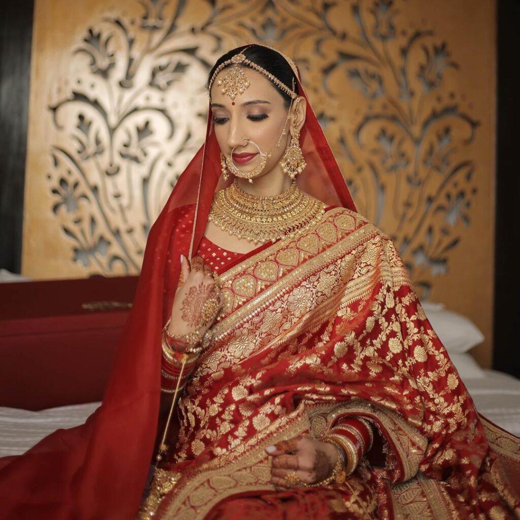 Saree on Wedding Day