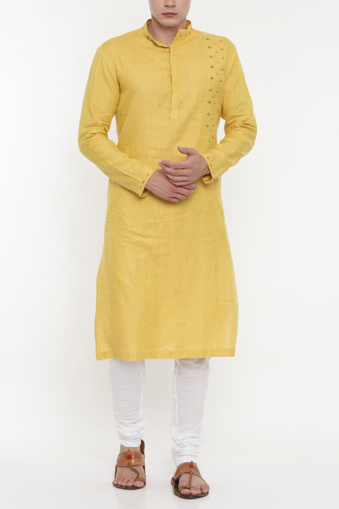 Yellow Kurta Men