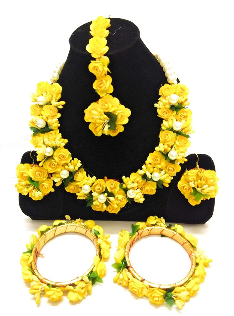 Yellow Floral Jewellery