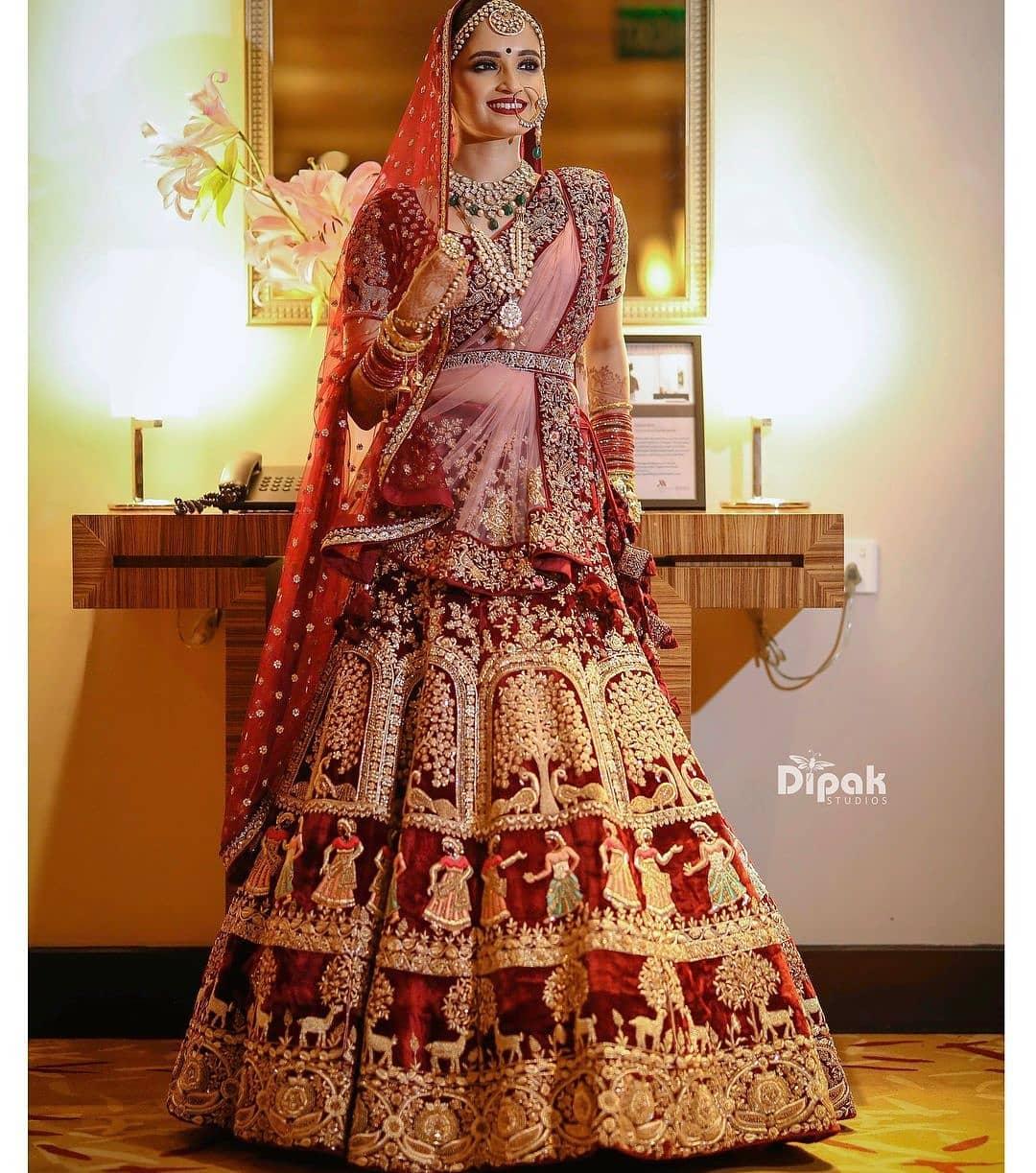 Velvet Bridal Lehenga