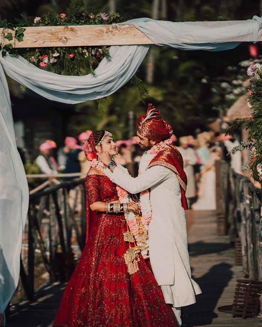 All Red Lehenga Bridal