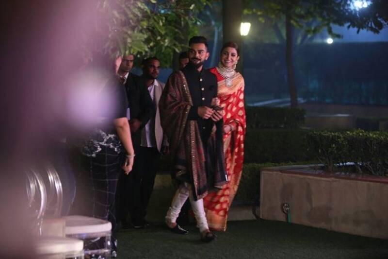 Virat Anushka Delhi Reception