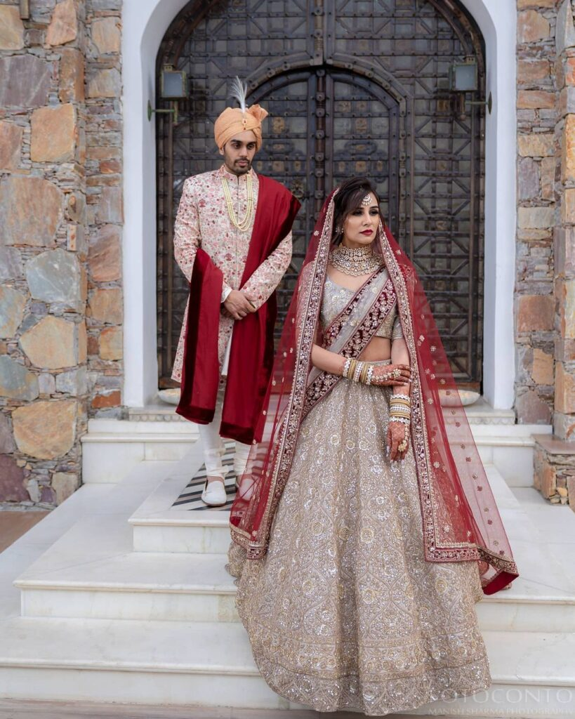 Manish Malhotra Golden Bridal Lehenga