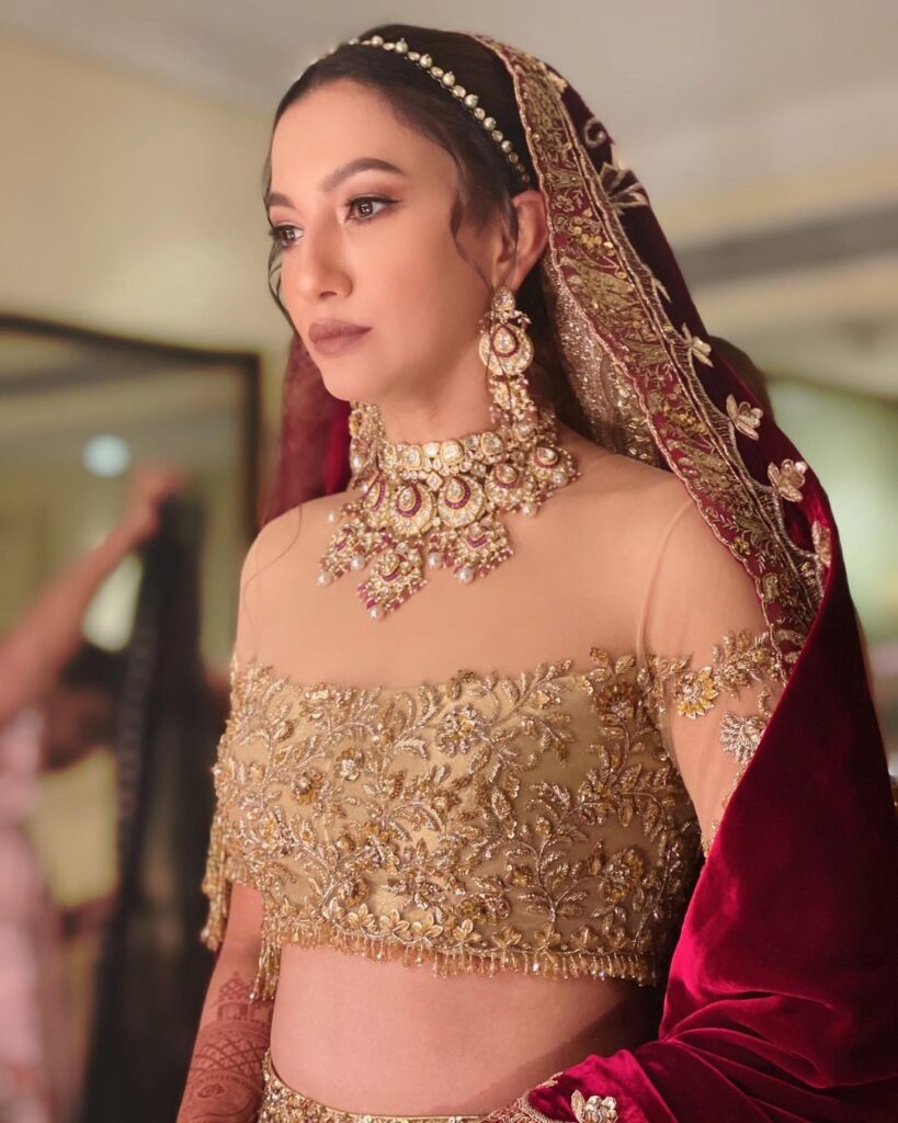 Gauhar Khan Reception Lehenga
