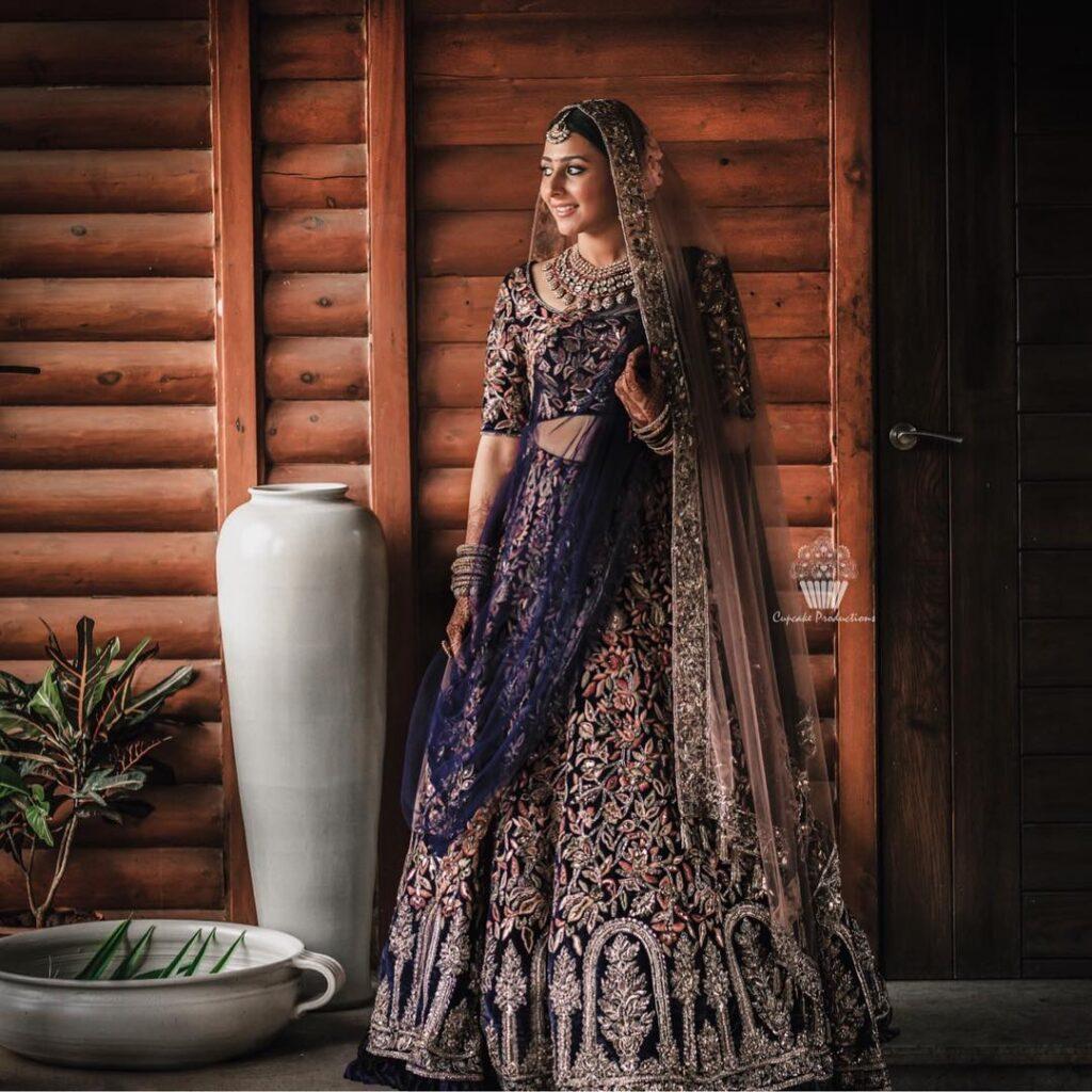 Manish Malhotra Blue Lehenga