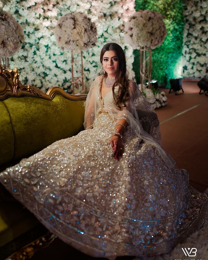 Manish Malhotra Golden Lehenga