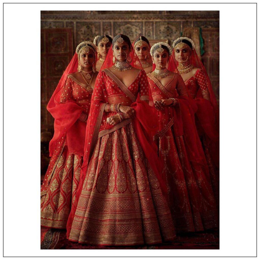 Sabyasachi Bridal Lehenga Style Dupatta