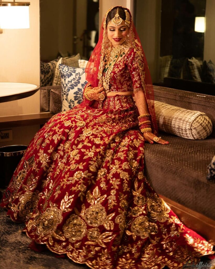 Manish Malhotra Red Bridal Lehenga