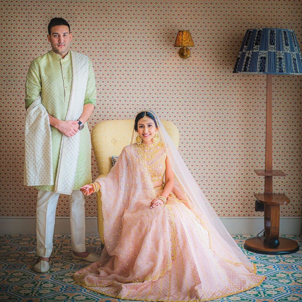 Dupatta Draping Style For Bridal Lehenga