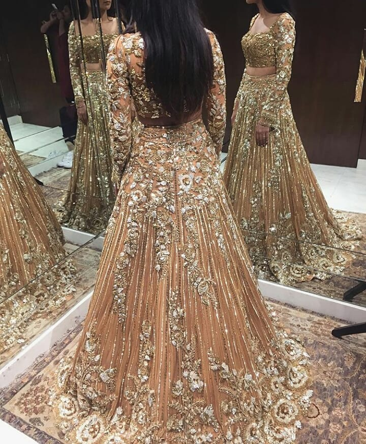 Manish Malhotra Bridal Lehenga Design