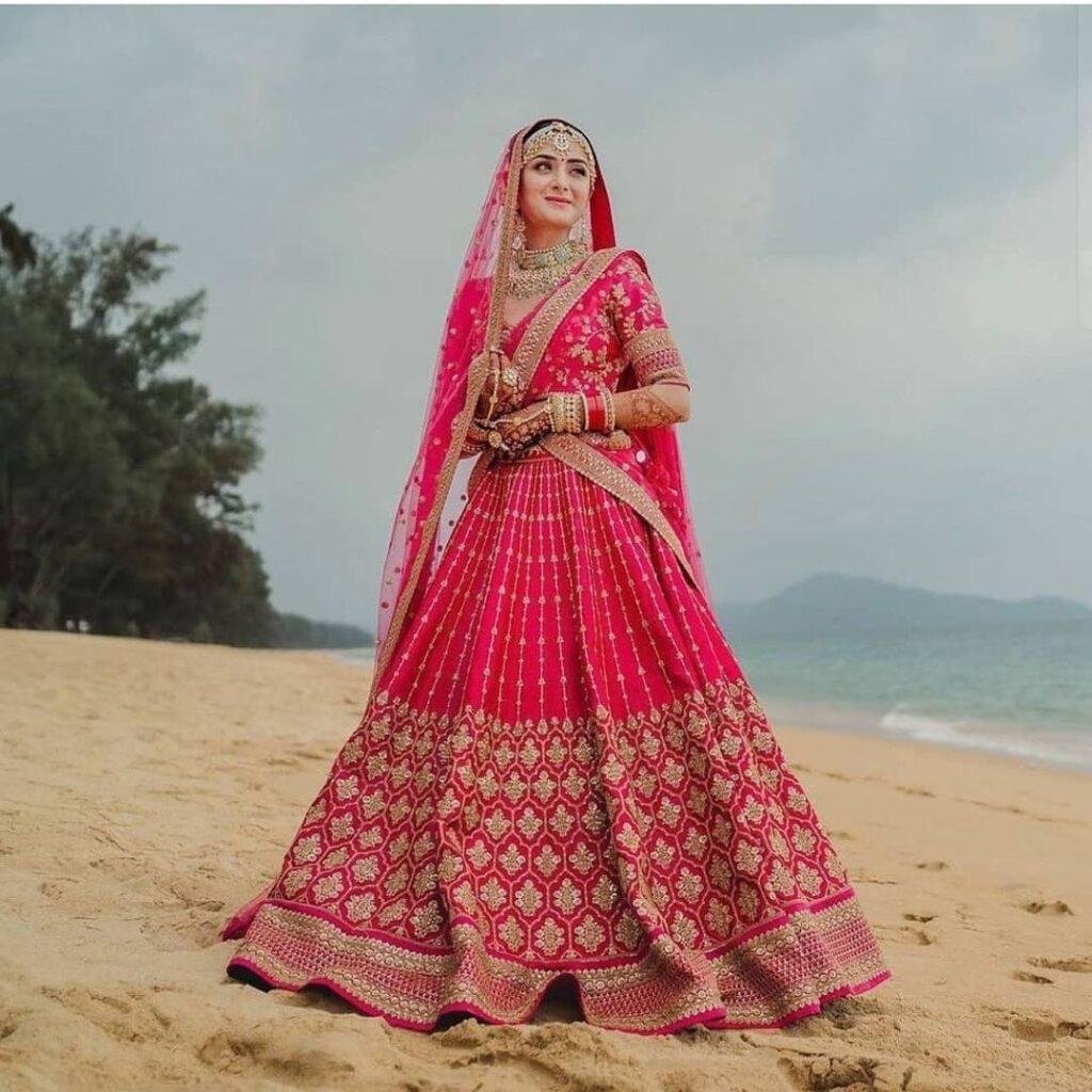 Double Dupatta Drape For Brides