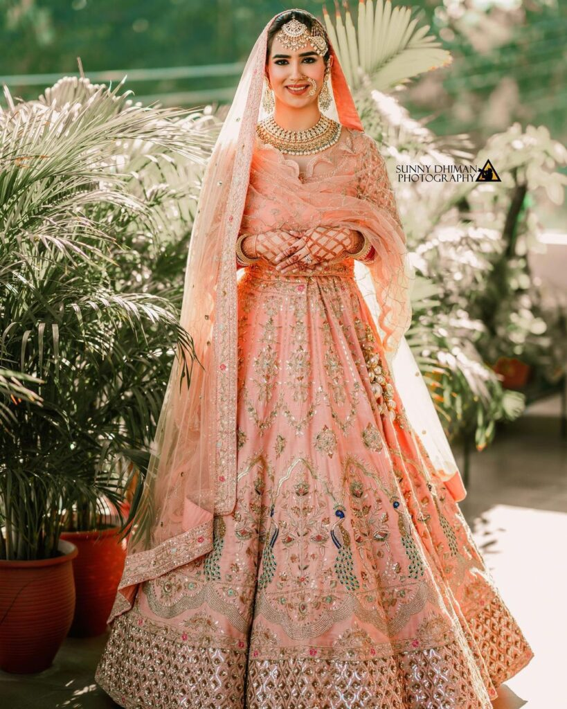 Sikh Style Bridal Dupatta Drape