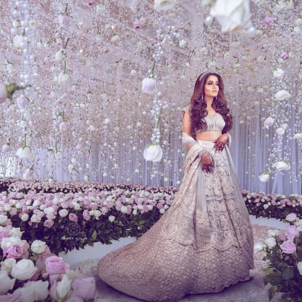 Manish Malhotra Silver Lehenga Design