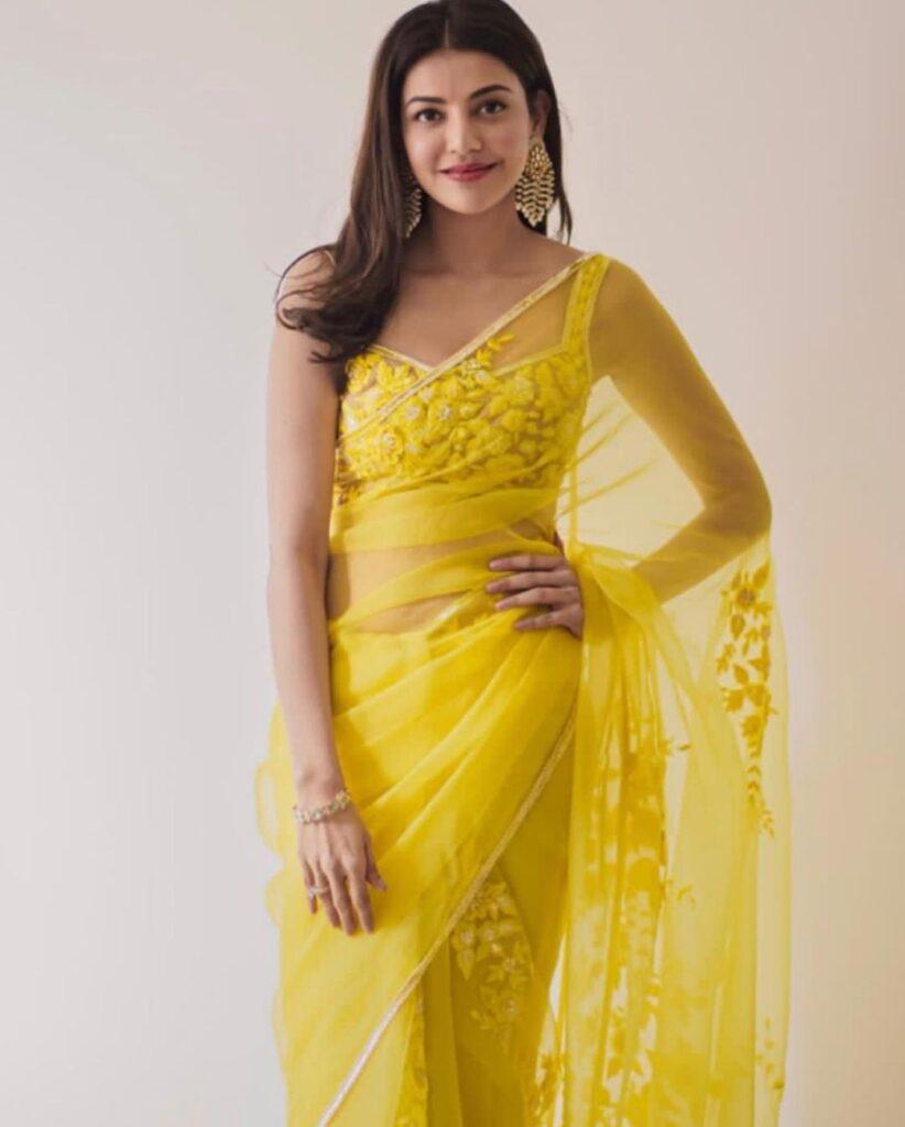 Manish Malhotra Saree Kajal Aggarwal