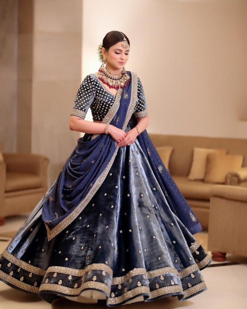 Lehenga Dupatta Saree Drape Style