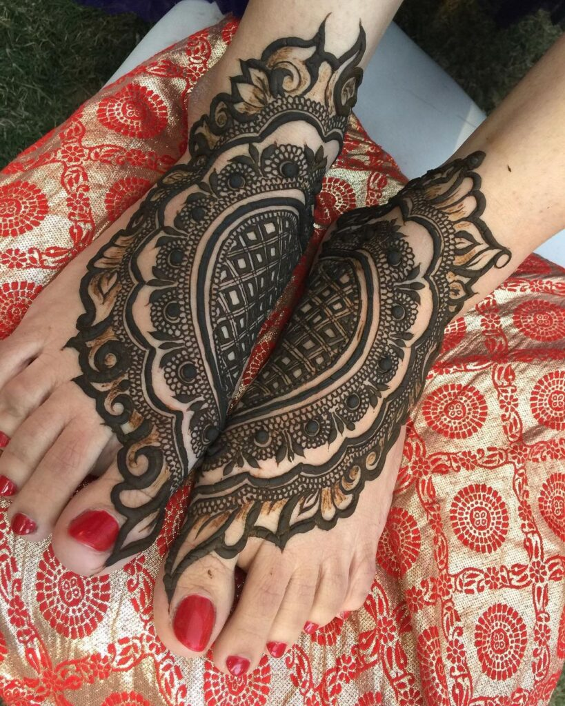 Foot Mehndi Design Arabic