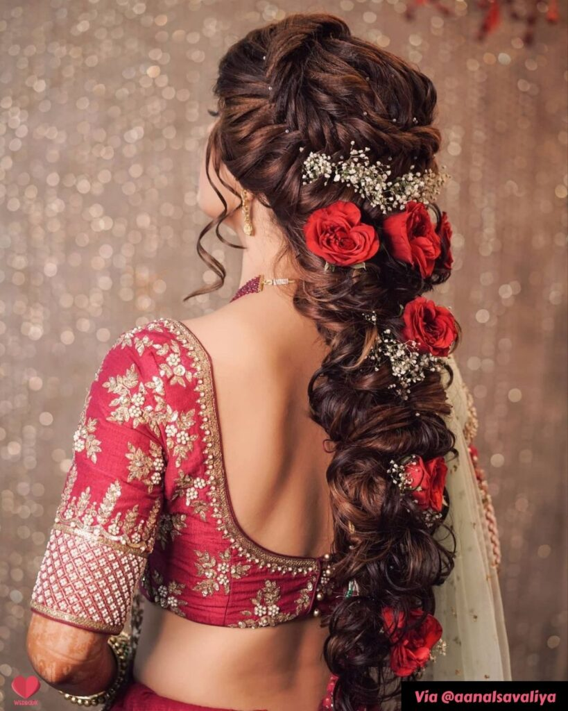 Braid Sangeet Hairstyle