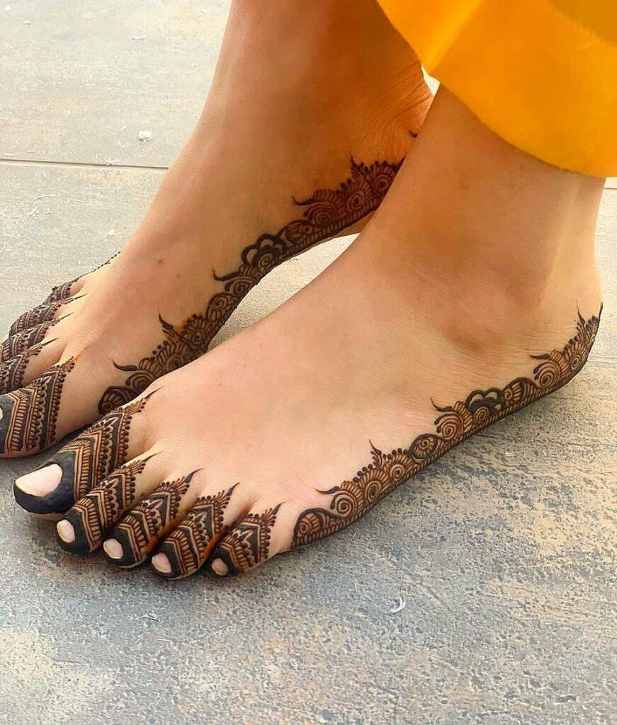 easy feet mehendi