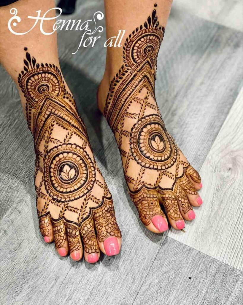 bridal latest feet mehndi