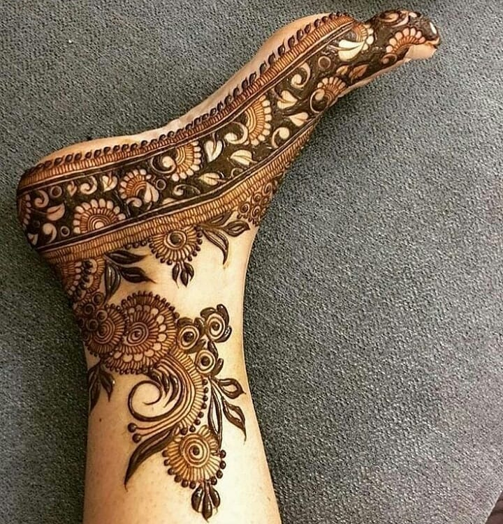 arabic feet mehendi design