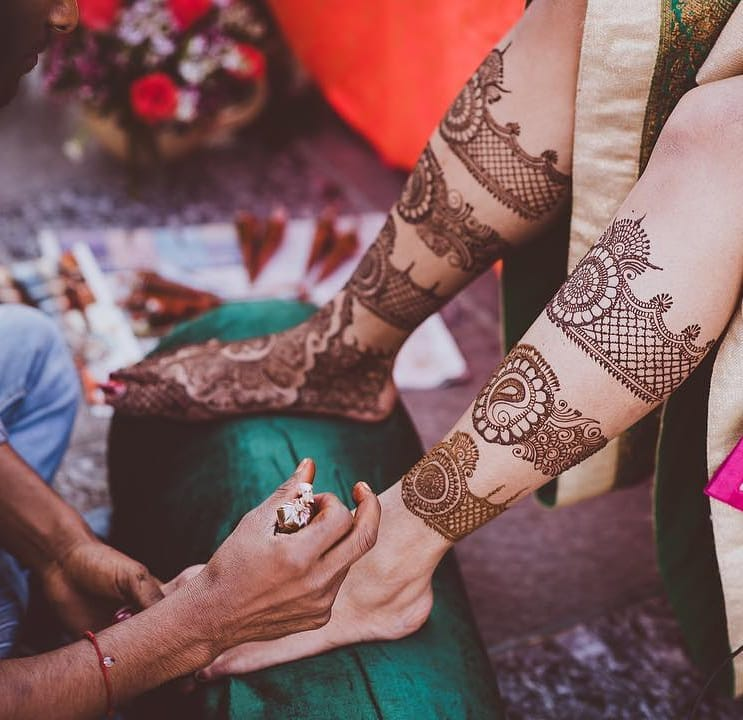 foot bridal mehendi