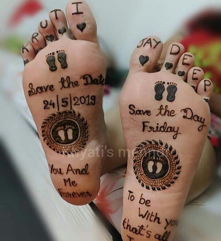 Feet Bridal Mehendi