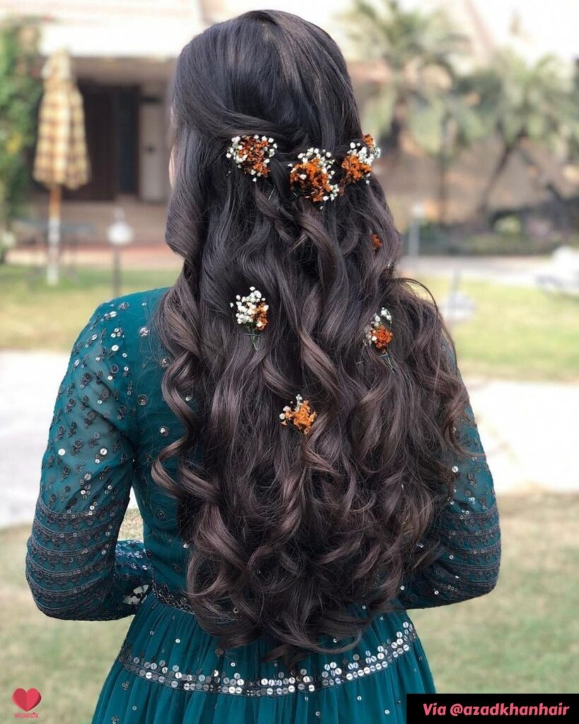 Open Waves Sangeet Hairstyle