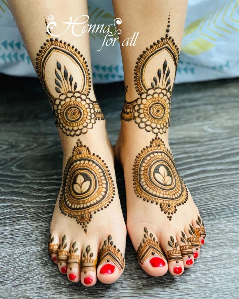 Foot Mehndi Design latest