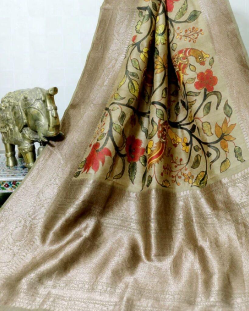 Tussar Silk Benarasi Sari