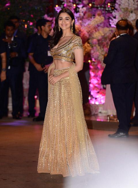 Alia Bhatt Golden Lehenga