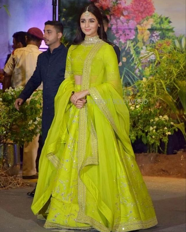 Alia Bhatt Lime Green lehenga