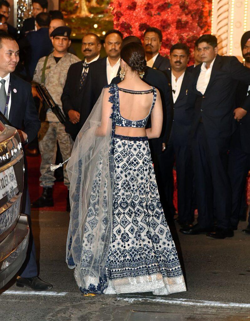 Alia Bhatt Manish Malhotra White Blue Lehenga