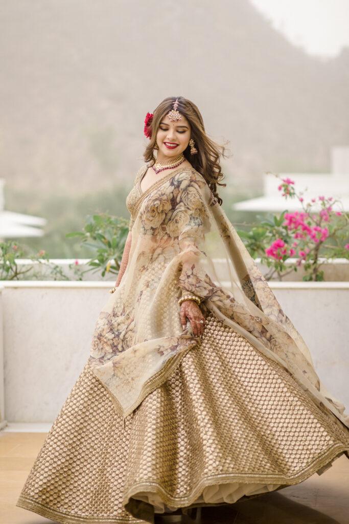 Golden Sabyasachi Bridal Outfit