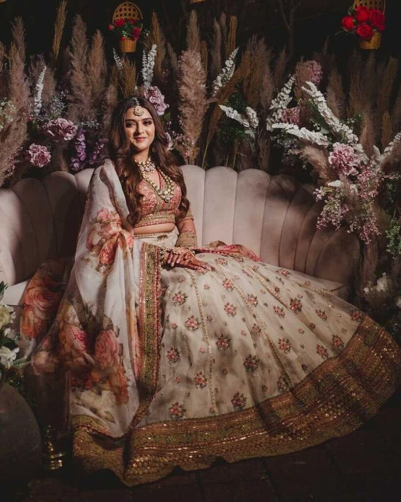 Ivory Printed Outfit Sabyasachi