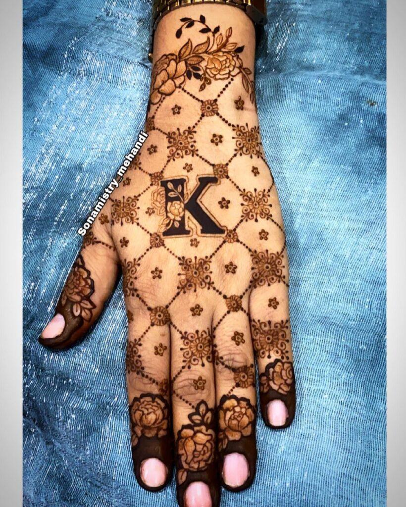 Jaal Mehendi Design Back Hand