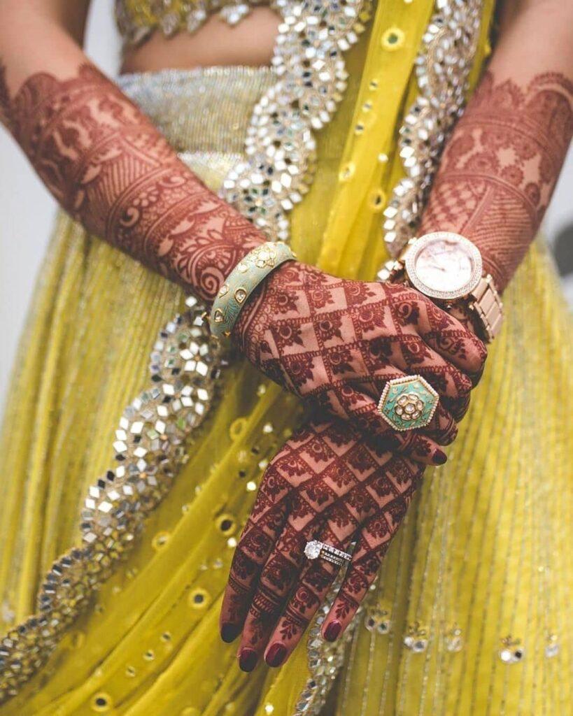 Jaal Mehendi Design Brides