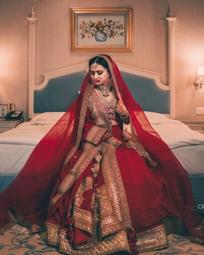 Simple Sabyasachi Lehenga for Brides
