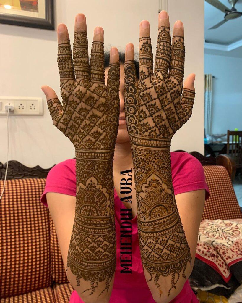 Bharwa Jaal Mehendi for brides