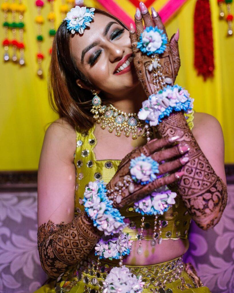 Silvy Mehta Mehendi Look