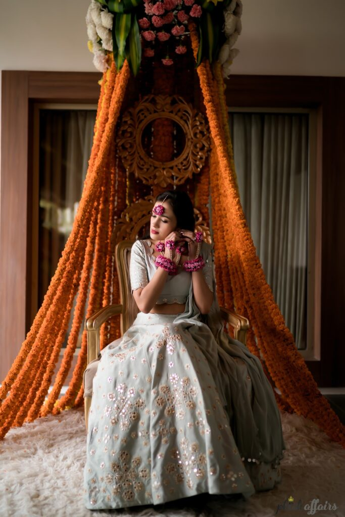 Pink Bridal Floral Jewellery Set