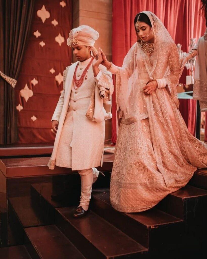 Light Pink Bridal Lehenga Sabyasachi