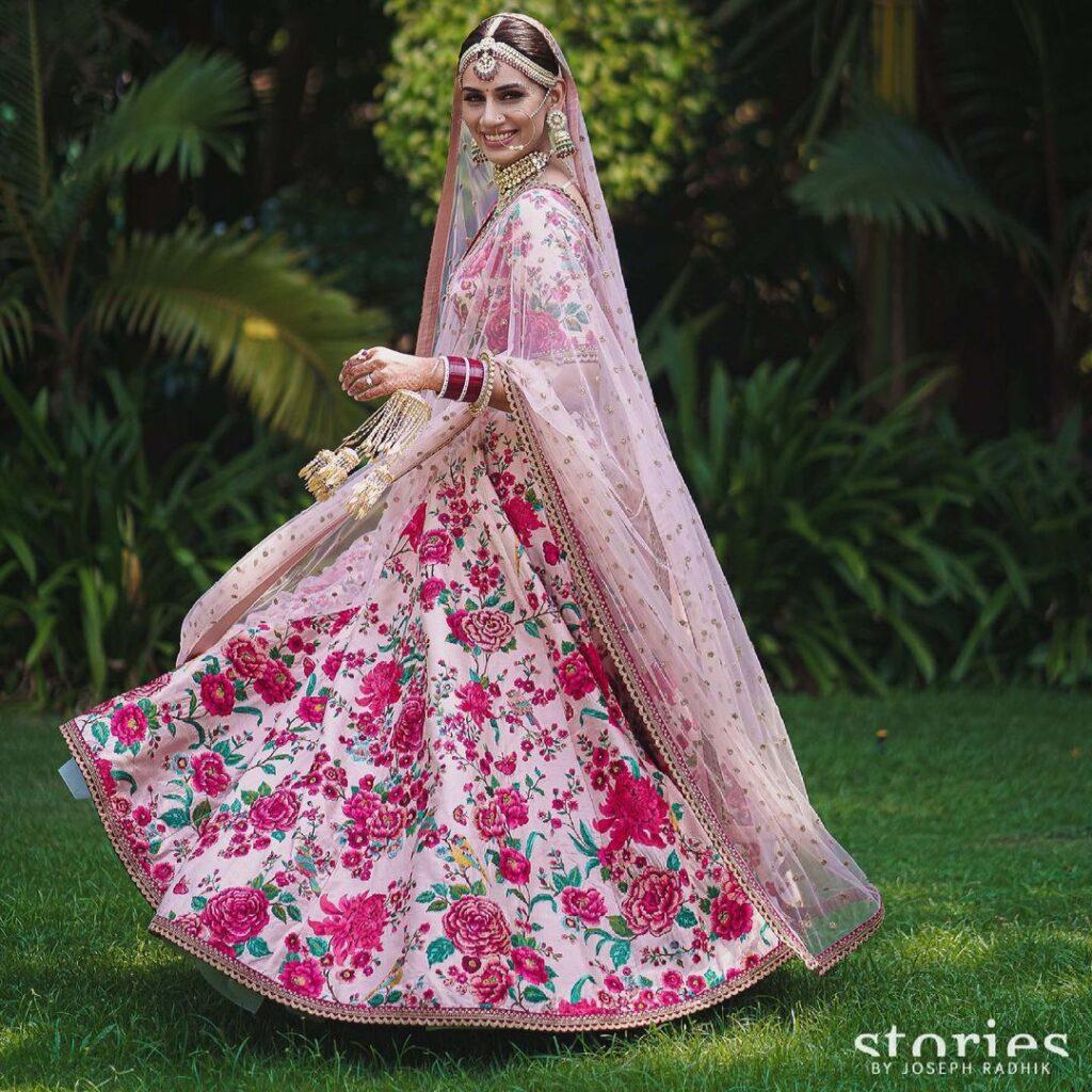 Sanjana Ganesan Wedding Lehenga