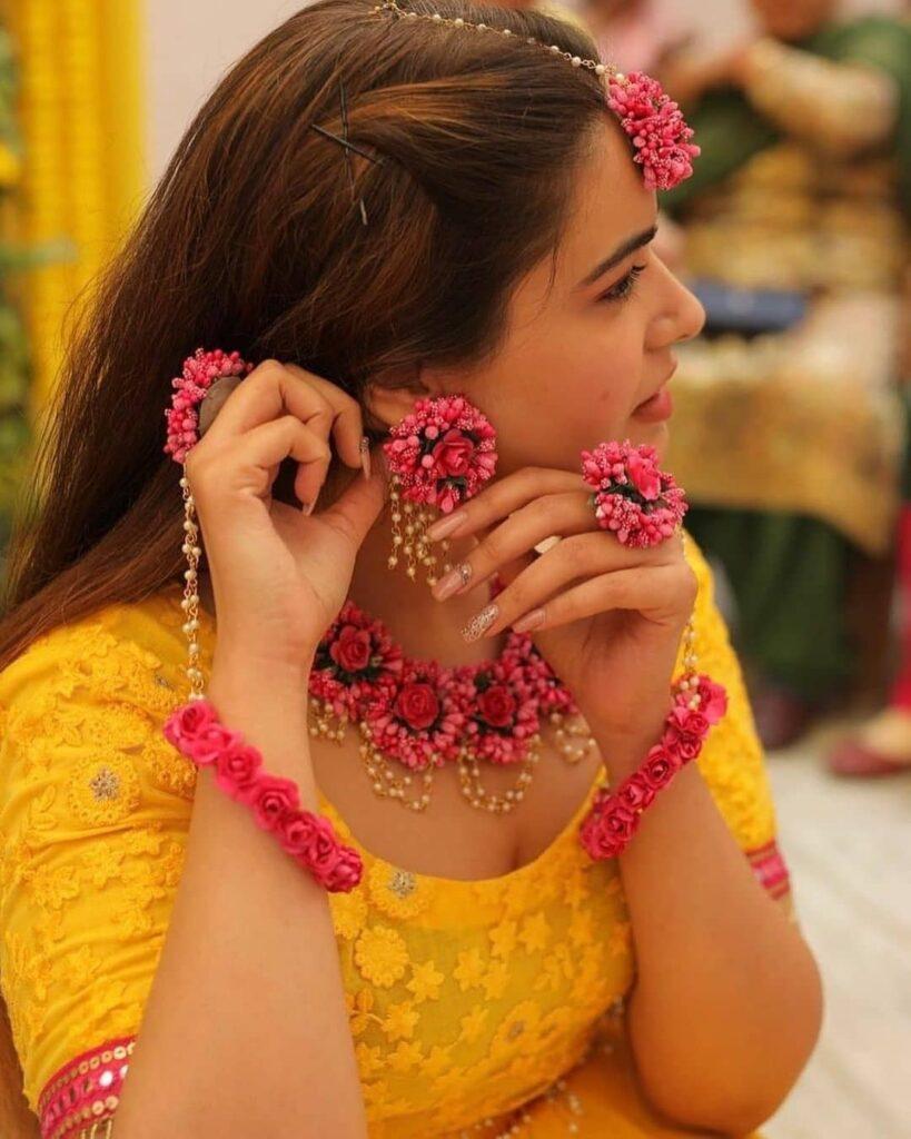 Floral Jewellery For Haldi